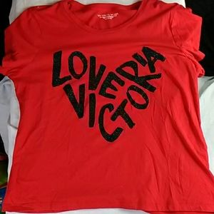 Victoria Secret red pajama top large